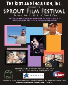 Images from films featured in the Sprout Film Festival with information about the event