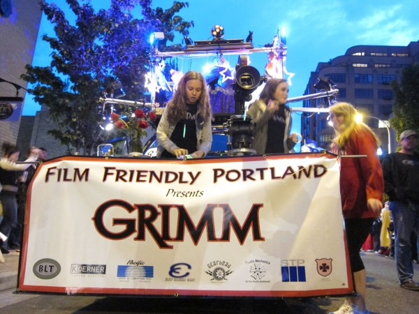 "The ""Film Friendly Portland"" Float In The 2012 Rose Festival Starlight Parade (Photo: OregonConfluence.com)"