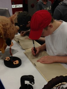 Student trying his hand at drawing for animation