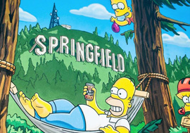 """""""The Simpsons"""" Mural on the side of the Emerald Arts Center in Springfield, Oregon"""