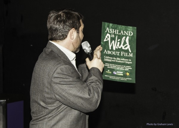 "Gary Kout introducing the ""Wild About Film"" campaign in Ashland."