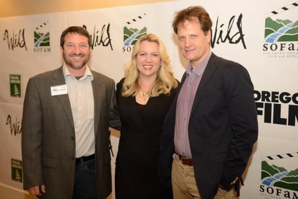Gary Kout, Cheryl Strayed, Tim Williams (photo: Dale Robinette)