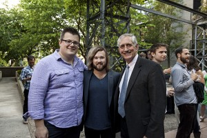 Portland Film Festival Announcement party with PDXFF Executive Director Joshua Leake, Haley Joel Osment (SEX ED, AI, Six Sense) and Portland Mayor Charlie Hales.