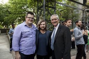 Portland Film Festival Announcement party with PDXFF Executive Director Joshua Leake, Haley Joel Osment (SEX ED, AI, Six Sense) and Portland Mayor Charlie Hales.