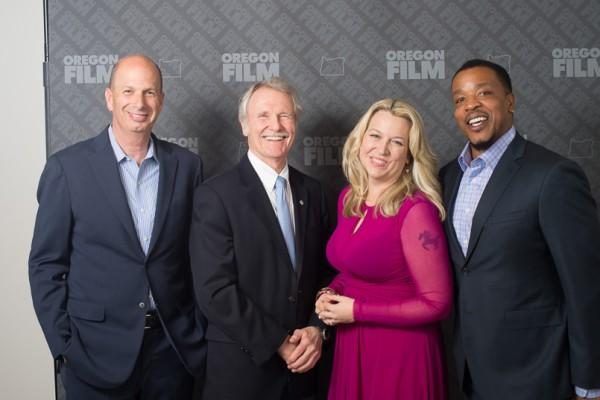Gordon Sondland, Governor Kitzhaber, Cheryl Strayed, Russell Hornsby (photo: Kim Oanh Nguyen)