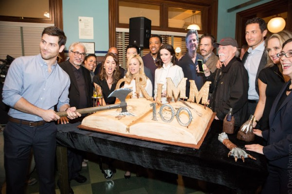 "Cast and crew of 'Grimm"" and Governor Kate Brown. (Photo David Nguyen)"