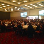 Governor Kate Brown addresses the breakfast attendees