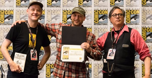 Cartoonist-stars Paul Guinan and David Chelsea join filmmaker Milan Erceg to celebrate 24 Hour Comic screening at San Diego Comic-Con International Independent Film Festival.
